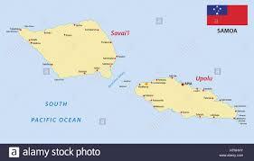 samoa in world map samoa map with flag stock vector illustration vector image