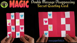 message disappearing secret magic card diy tutorial by