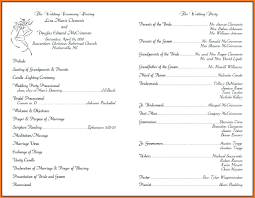 wedding ceremony bulletin template wedding ceremony template