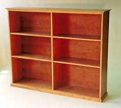 custom made solid wood bookcase shaker furniture