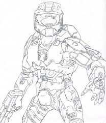 halo 3 master chief coloring pages sketch coloring page
