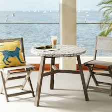 Mosaic Bistro Table Mosaic Tiled Outdoor Bistro Table Spider Web West Elm