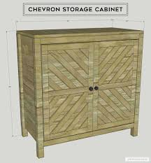 how to make storage cabinets diy chevron storage cabinet inspired by pottery barn irene