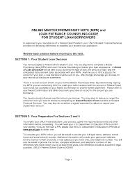 federal direct consolidation loan application and promissory note