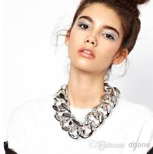 big link necklace images 2018 sexy women classical gold or silver big chunky chains link jpg