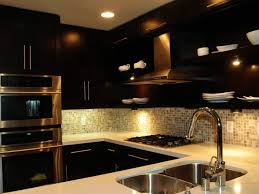 decoration kitchen backsplash ideas with dark cabinet of kitchen