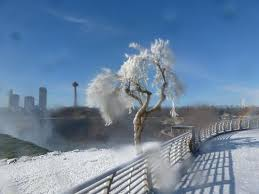 frozen spray paints picture niagara falls niagara