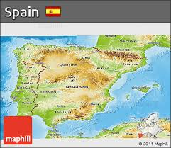 physical map of spain free physical 3d map of spain