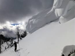 Large Cornice Large Cornice Beehive Basin Gallatin National Forest Avalanche