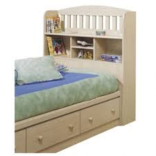furniture home white queen solid wood chess bed with bookcase