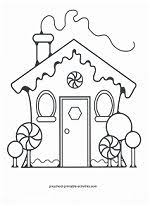 colouring gingerbread house holidays