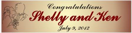 congratulations wedding banner custom banners the party place