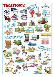 here vocabulary worksheets travelling at the travel agency travel