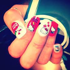 15 cute u0026 simple hello kitty nail art designs u0026 stickers nail