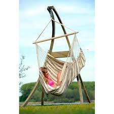 home decoration unique striped hammock bed design with stand