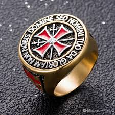 cross jewelry rings images 2018 punk rock crusader cross stainless steel rings for men knight jpg