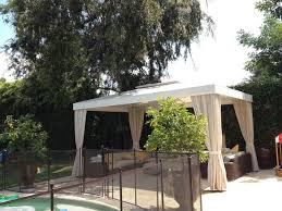 Cabana Curtains Poolside White Cabana With Four Curtains Traditional Patio