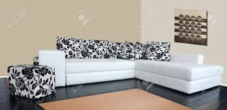 Modern Luxury Sofa Modern Luxury Sofa With Skin Tapestry Stock Photo Picture And