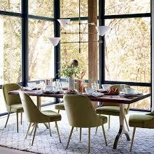 cast trestle dining table west elm house ideas pinterest