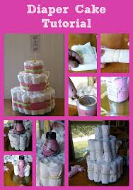 diaper cake tutorial baby shower frugal fanatic