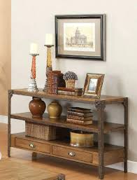 wood and metal console table with drawers metal and wood console table socielle co