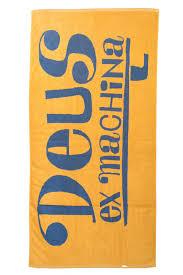 ex machina surf towel yellow