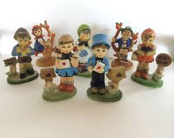 hummel figurines resin set 7 miniature collectible