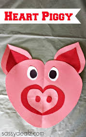Holiday Crafts For Preschoolers - valentine u0027s day heart shaped animal crafts for kids crafty morning