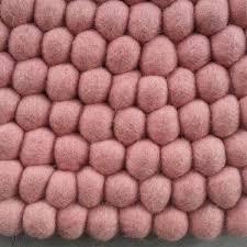 Nepal Felt Ball Rug Pastel Pink Felt Ball Rug Felt Ball Rug Australia