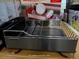 bathroom captivating kitchenaid stainless steel dish drying rack