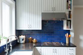 blue tile backsplash kitchen outofhome