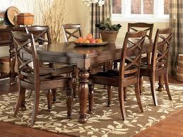 ashley furniture dining table set porter extension leg table with four chairs ashley furniture ashley