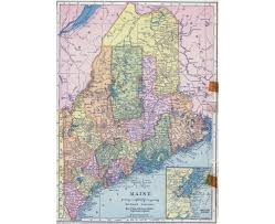 State Of Maine Map by