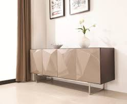 dining room consoles buffets modern dark oak 3d lacquered buffet with chrome buffett legs