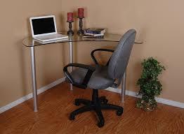 amazon com tier one designs clear glass corner computer desk
