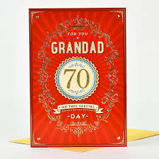 70th birthday card for you grandad only 1 29