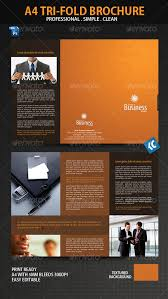 clean and professional a4 tri fold brochure tri fold brochure