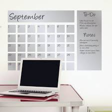 Modern Desk Calendar by Dry Erase Calendar Decal Silver Writable Wall Calendars