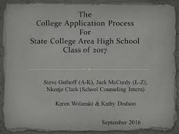 the college application process for state college area high