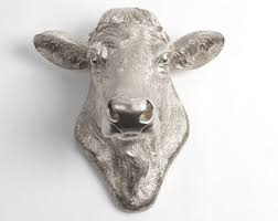 cow head wall decor the bessie in white by white faux