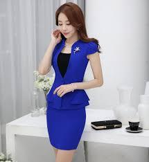 styles of work suites formal uniform styles slim fashion summer short sleeve work suits