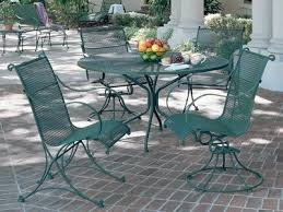 Woodard Wrought Iron Patio Furniture Wrought Iron Patio Set Regarding Household Daily Knight