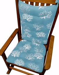 Rocking Chair Cushions For Nursery by Coastal Coral Aqua Rocking Chair Cushions Latex Foam Fill Made