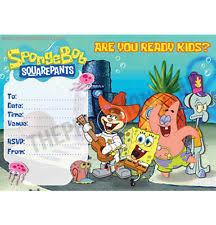 spongebob birthday cards and stationery for children ebay