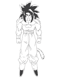 dragon ball z super saiyan 4 coloring pages for kids and for