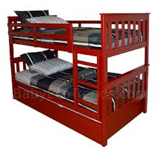 amish riley trundle bunk bed solid hardwood usa made eco friendly