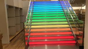 led treppe uniqlo store antwerpen rainbow stairs led treppe realisiert