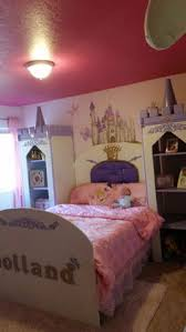 Castle Bedroom Furniture Girls Playhouse Castle Loft Bed Painted To Perfectly Match The