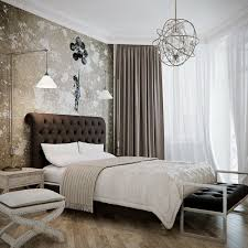 modern and victorian bedroom styles with chandelier combined