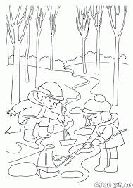 coloring page seasons spring